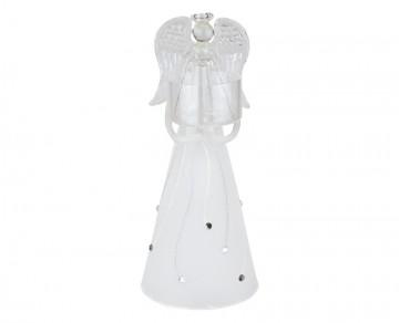 Skleněný anděl bílý, svícen