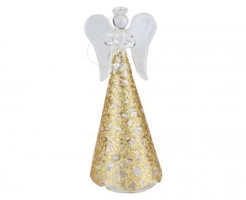 Skleněný anděl zlatý, malý