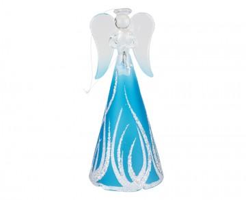 Skleněný anděl tyrkysový, velký