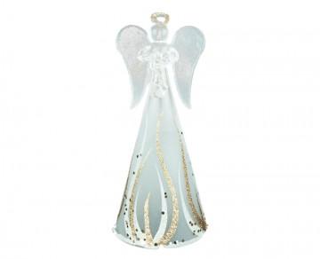 Skleněný anděl zlatý, velký