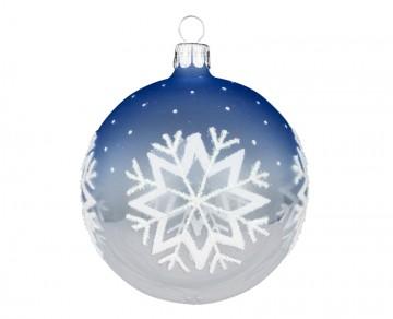 Vánoční koule čirá, vločka