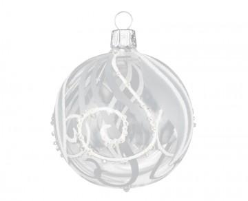 Vánoční koule čirá, spirálka