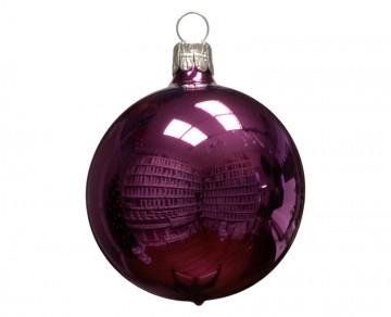 Vánoční koule fialová, lesklá