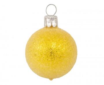 Vánoční koule citronová, sypané
