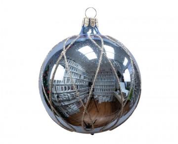 Vánoční koule bleděmodrá, čáry