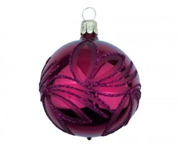 Vánoční koule vínová, lístky