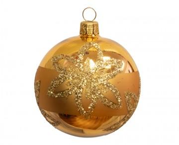 Vánoční koule zlatá, květ