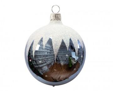 Vánoční koule bleděmodrá, rampouchy