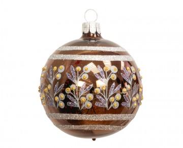 Vánoční koule čokoládová, keříky