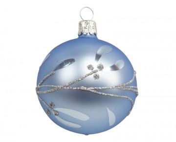 Vánoční koule bleděmodrá, jmelí