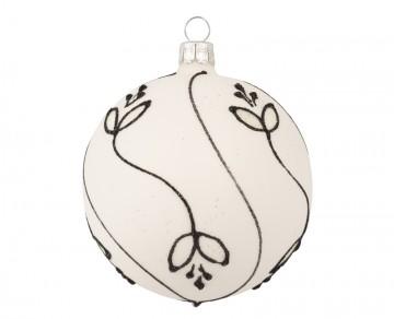 Vánoční koule skořápka, vlnka lístek