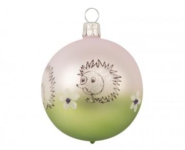 Vánoční koule olivová, ježek