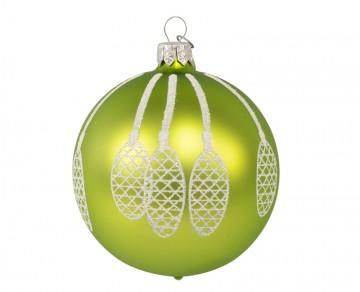 Vánoční koule olivová, šišky