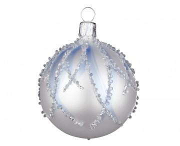 Vánoční koule perleťová, plamínek