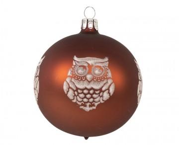 Vánoční koule čokoládová, sova