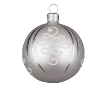 Vánoční koule perleťová, osmičky