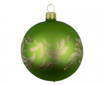 Vánoční koule olivová, lístky