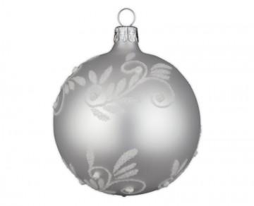 Vánoční koule perleťová, spirálka lístek