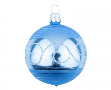 Vánoční koule bleděmodrá, spirálka