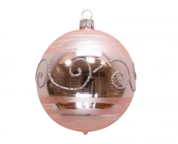 Vánoční koule pudrová, spirálka