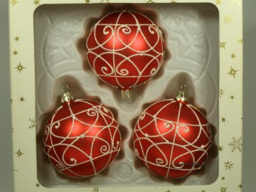 Vánoční ozdoba - koule 112 4g3 89-7 554