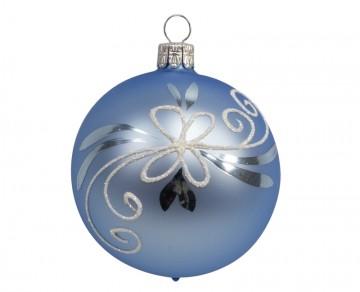 Vánoční koule bleděmodrá, spirálka lístek