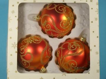 Vánoční ozdoba - koule 112 4j6 26-8  274-55