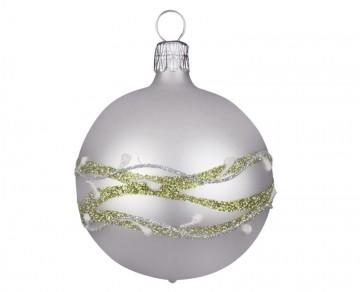 Vánoční koule perleťová, jmelí