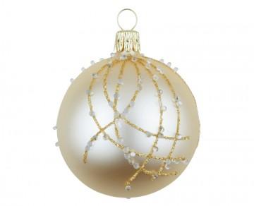 Vánoční koule šampáňo, perličky