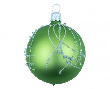 Vánoční koule olivová, perličky