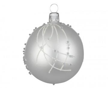 Vánoční koule perleťová, perličky