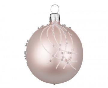 Vánoční koule pudrová, perličky