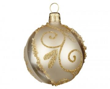 Vánoční koule šampáňo, spirálka lístek