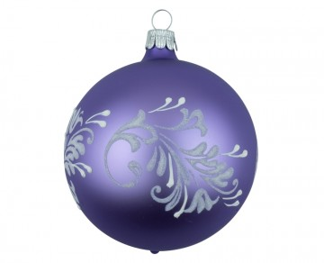 Vánoční koule fialová světlá, lístky