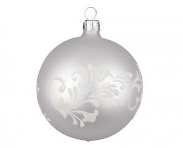 Vánoční koule perleťová, lístky