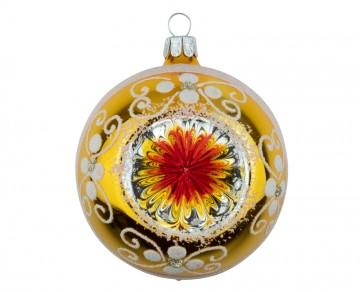 Vánoční koule žlutá