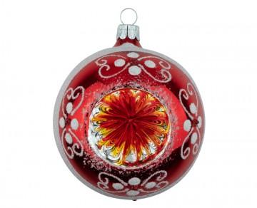 Vánoční koule červená