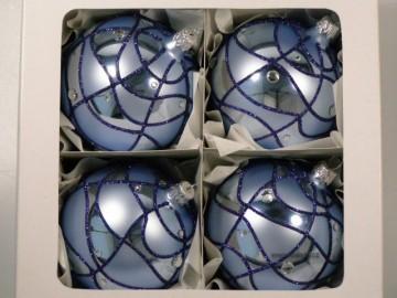 Vánoční koule modrá světlá, síť