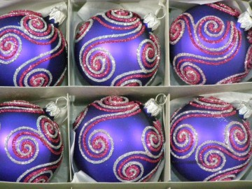 Vánoční ozdoba - koule - 14 031-6-644