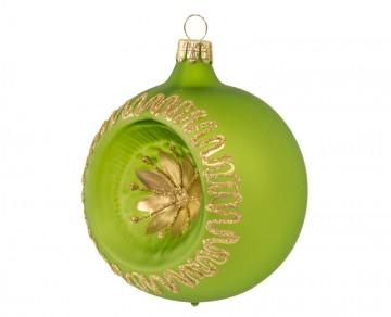 Vánoční koule olivová, květ