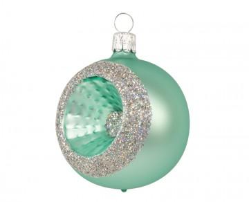 Vánoční koule zelená světlá, reflektor