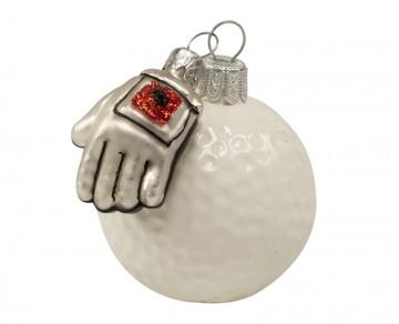 Vánoční ozdoba golfový míček, porcelánová