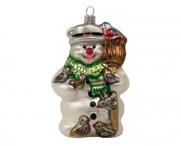 Skleněná figurka sněhulák, mix