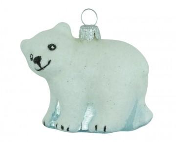 Skleněné zvířátko medvěd, perleťový