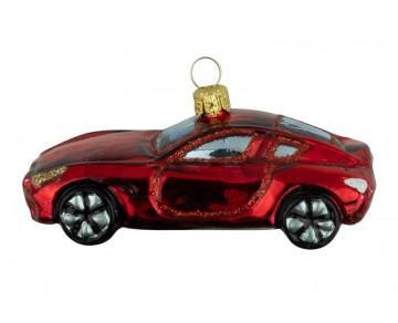 Skleněné auto, červené