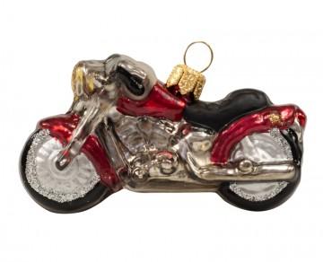 Skleněná motorka, červené