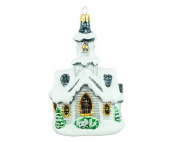 Skleněný domek kostel, perleťový