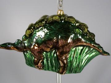 Skleněné zvířátko dinosaurus, trávové