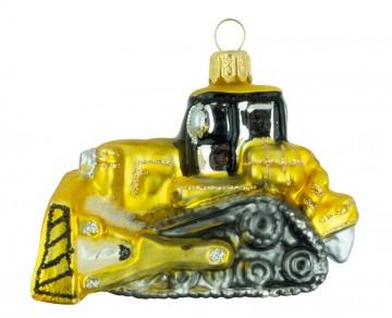 Skleněný buldozer, tmavě zlatý