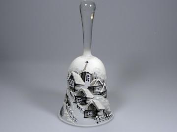 Skleněný zvonek perleťový, roubenka